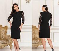 Женское нарядное платье №4119-1(р.50-62) черный, фото 1