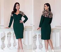 Женское платье №1886-1 (р.50-56) темно-зеленый, фото 1