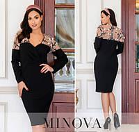 Женское платье №1886-1 (р.50-56) черный, фото 1