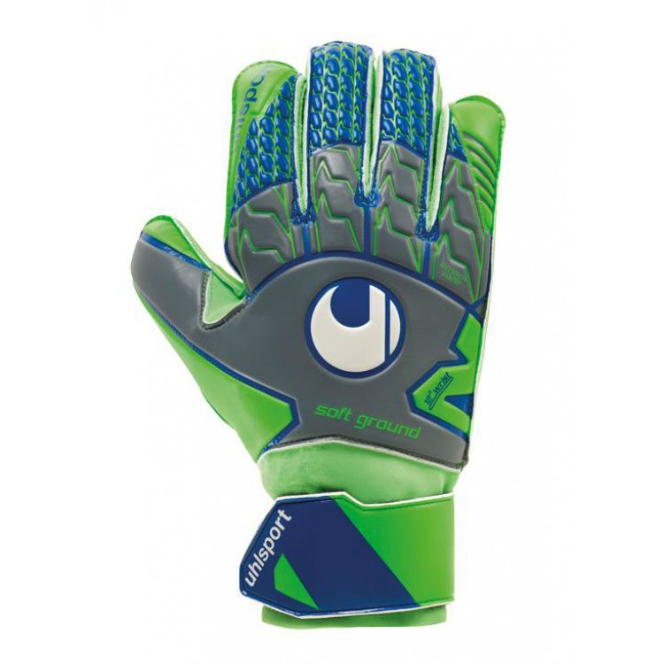 Вратарские перчатки Uhlsport Tensiongreen Soft Pro Size 9 Green/Blue