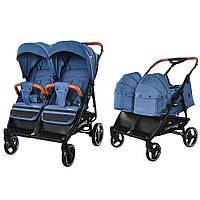 Универсальная коляска 2 в 1 для двойни Carrello Connect Evening Blue (CRL-5502/1)