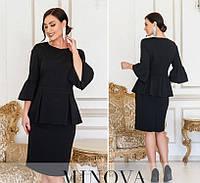 Женское платье №4126-1 (р.50-62) черный, фото 1
