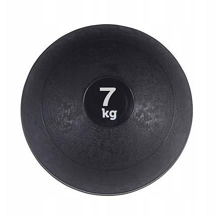 Слэмбол (медицинский мяч) для кроссфита SportVida Slam Ball 7 кг SV-HK0198 Black, фото 2