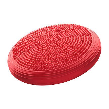 Балансировочная подушка (сенсомоторная) массажная 4FIZJO MED+ 4FJ0052 Red, фото 2