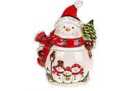 Банка для сладостей Снеговики, 1л BonaDi 827-844