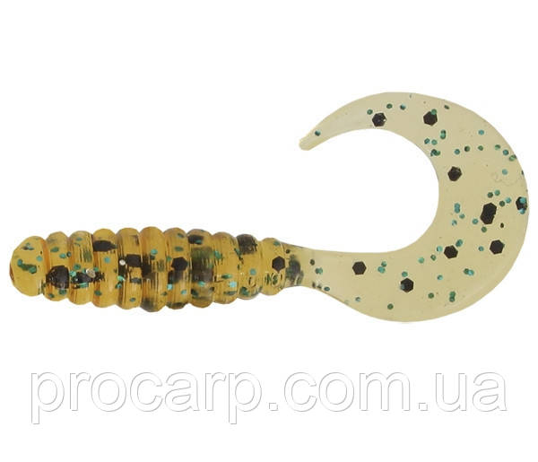 Силикон Mann's Twister 1' CTG CP 2.5 см Golden Body Green - Black Glitter