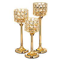 Набор роскошных подсвечников на свадебный стол (3 шт.), 008SY