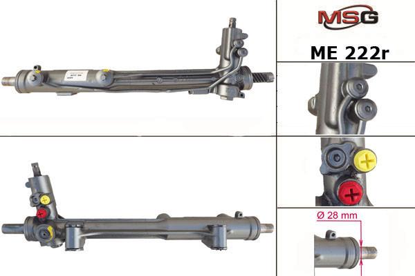 Рулевая рейка MERCEDES M W163 2002-2006 с ГУР восстановленная