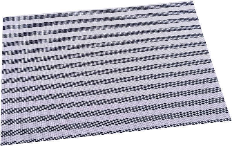 Килимок сервірувальний Renberg Vinyl Rug 30х45см, вініл, синя смуга