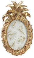"""Фоторамка Tudor """"Ананас"""" овальная, фото 10х15см (цвета состаренного золота)"""