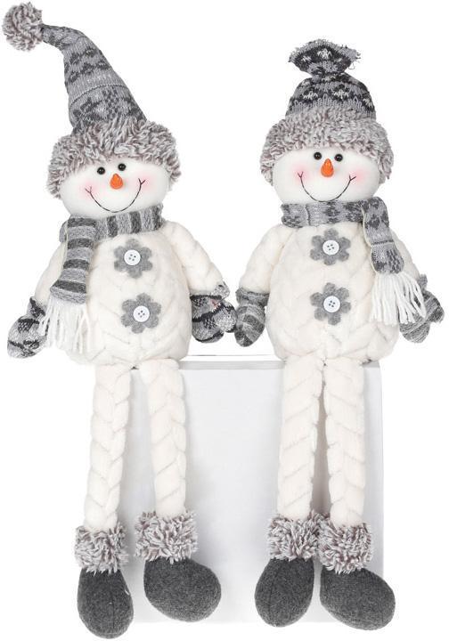 """Мягкая игрушка """"Снеговик черно-белый"""" 55см, сидячая"""