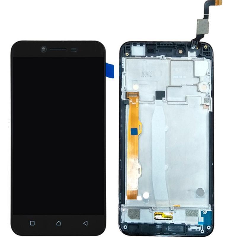Дисплей і сенсор (модуль) на Lenovo A6020 (A40) чорний з рамкою