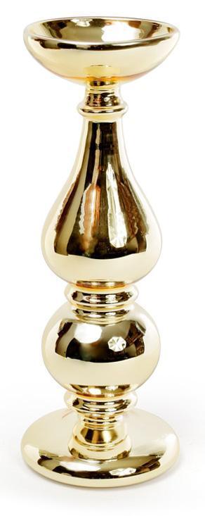 """Подсвечник Aiken """"Античное золото"""" 10.5х26.5см, стеклянный"""
