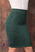 """Юбка женская """"Rich"""" из ангоры  Распродажа 42-44, темно-зеленый"""