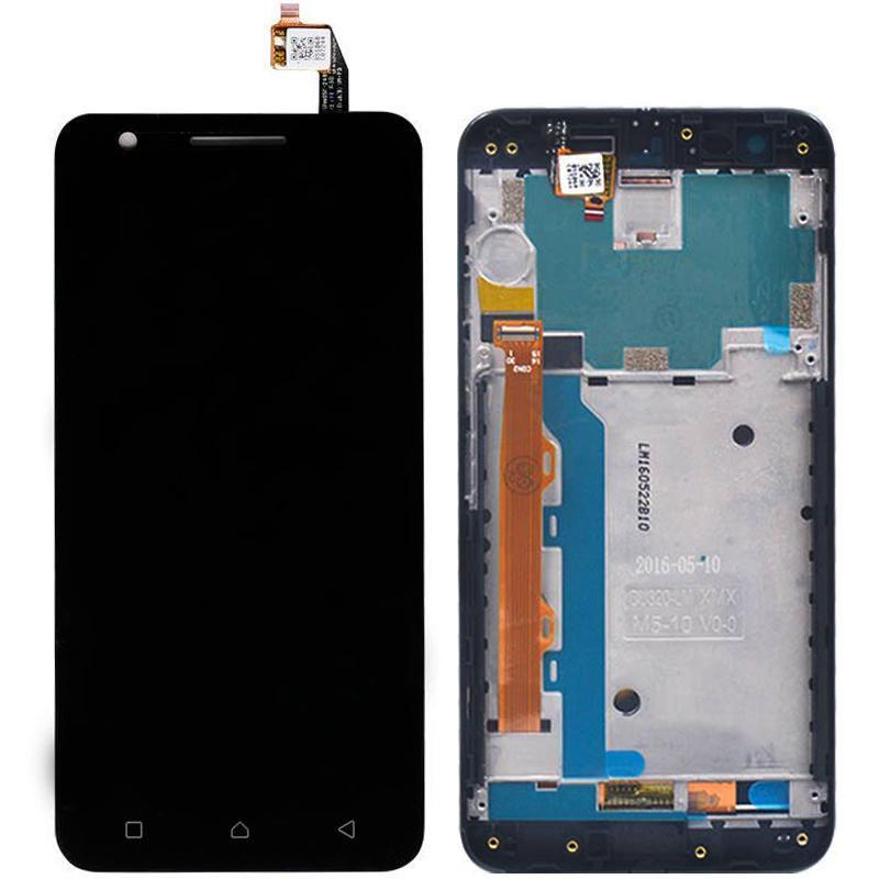 Дисплей і сенсор (модуль) на Lenovo Vibe C2 (K10a40) чорний з рамкою