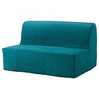 Двухместный диван-кровать IKEA LYCKSELE MURBO Бирюзовый (791.499.13)