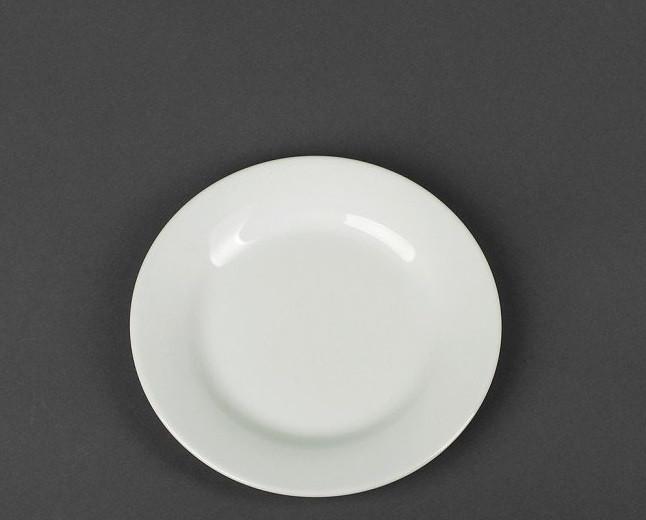 Тарелка белая десертная 15 см (фарфор)