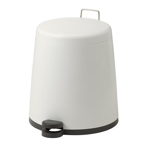 ИКЕА (IKEA) СНЭПП, 902.454.23, Ведро с откидной крышкой, белый, 12 л - ТОП ПРОДАЖ