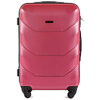 Чемодан большой на 4-х колёсах Wings ultra Розовый (1470001119)
