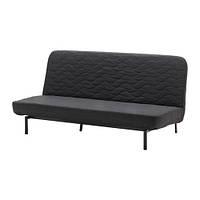 Трехместный раскладной диван IKEA NYHAMN с пружинным матрасом Skiftebo Черный 591.976.36