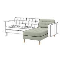 Шезлонг - часть модульного дивана IKEA LANDSKRONA Gunnared Светло-зеленый 492.702.60