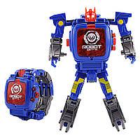 Детская игрушка Robot Watch часы робот трансформер 2 в 1 Оптимус Прайм Синий (CR-51)