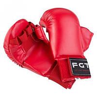 Накладки для карате FGT, PU4009, M, красный