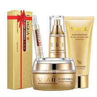 Набор косметический для лица Bioaqua с муцином улитки SNAIL REPAIR + сыворотка в подарок (0103)