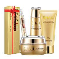 Набор косметический для лица Bioaqua с муцином улитки SNAIL REPAIR + сыворотка в подарок (0104)