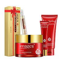 Набор косметический для лица Bioaqua с экстрактом граната POMEGRANATE + сыворотка в подарок (0111)