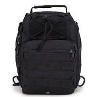 Универсальная Тактическая Штурмовая сумка-рюкзак Han Wild 7 литров Черный (SK-07)