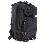Тактический штурмовой военный плечевой рюкзак Han Wild 45 л Черный для длительных пеших прогулок, рыбалки, охоты (TB-45B)
