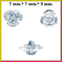 Набор Пайетки Розы Объемные Серебристые 20 штук Диаметр 7 мм для Рукоделия