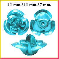 Набор Пайетки Розы Объемные Голубые 20 штук Диаметр 11 мм для Рукоделия