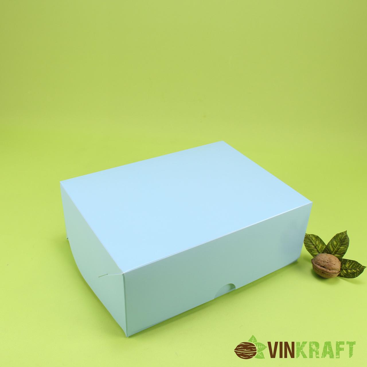 Коробка 240*180*90 для капкейков (6 шт), блакитна