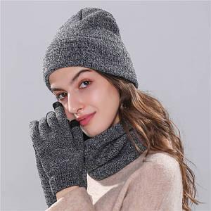Набір Long Keeper шапка, хомут, рукавички сірий унісекс