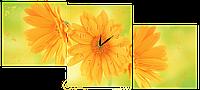 Настенные часы/Модульная картина DK Store s27T Летние цветы 1470х650 мм (hub_hNbF58480)