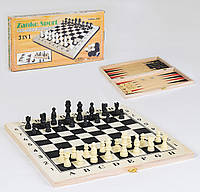 Шахматы Small Toys С36817 3 в 1 39х39 см