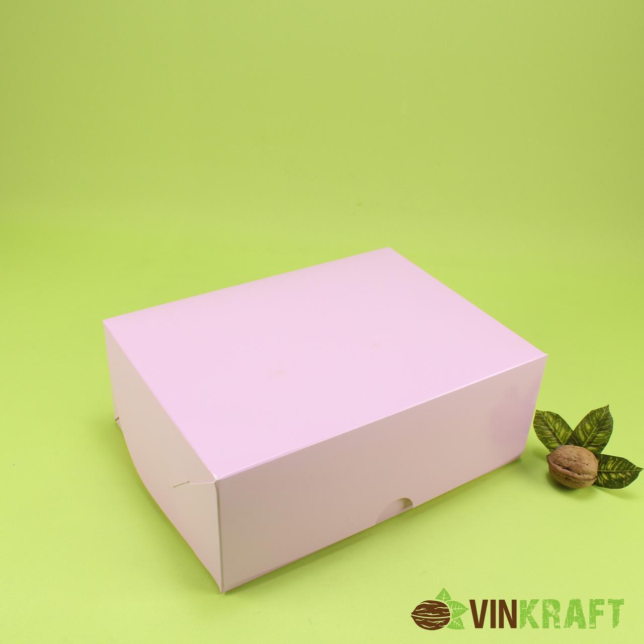 Коробка 240*180*90 для капкейків (6 шт), рожева