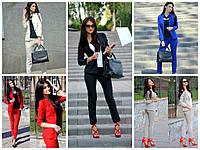 Женский деловой костюм (пиджак и брюки) в расцветках Menaya141051