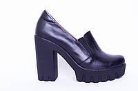 Туфли из натуральной черной кожи №311-1, фото 1