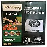 Электроплита 1 комфорка спираль Rainberg RB-555 (1200 Вт), фото 4
