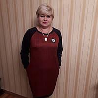Стильное платье темно красного цвета