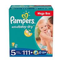 Подгузники Pampers Active Baby-Dry Junior 5 (11-18 кг) Mega Box 111 шт.