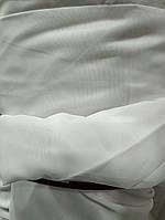 Качественная однотоннаятюль из шифона белогоцвета на метраж, высота 2.8 м, фото 1