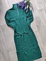 """Платье женское вязаное на молнии, размер 42-46 (4 цв) """"LATTE"""" купить недорого от прямого поставщика"""