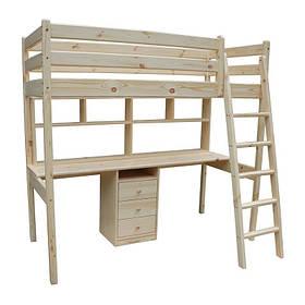 Ліжко-горище з робочою зоною Соло (підлітку)