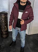 Мужская зимняя куртка Nike бордовая