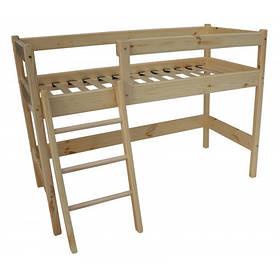 Двох'ярусне ліжко-горище з сосни 122 см