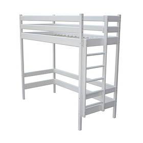 Ліжко горище 122см Умка біла (дерев'яна)